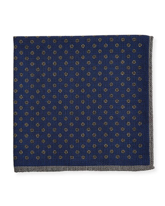 Neat Silk Pocket Square, Blue