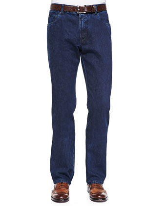 Five-Pocket Selvedge Denim Jeans
