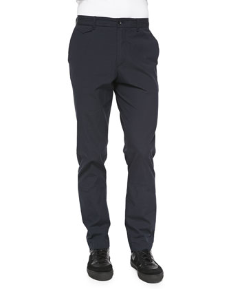 Tonal Seersucker Trousers, Navy