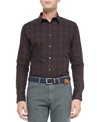 Zack PS Rhone Plaid Shirt, Red