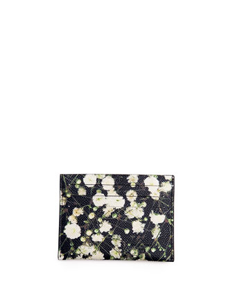 Floral-Print Card Case
