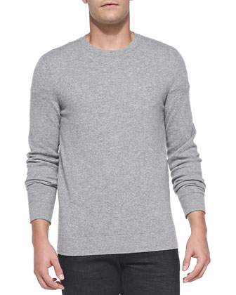 Cashmere Dermont Sweater, Light Gray