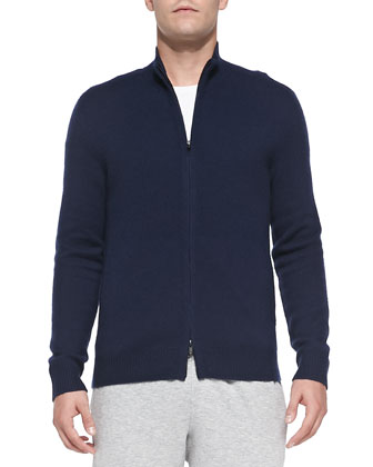 Cashmere Zip Iker Sweater