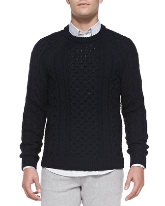 Emanuel Cable Crew Sweater