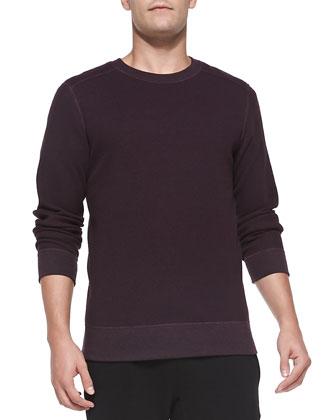 Danen Waffle-Knit Shirt, Plum