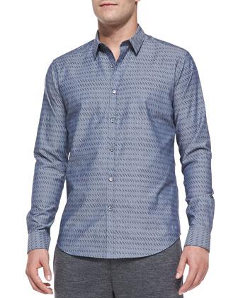 Stephan PS Printed Shirt, Gray