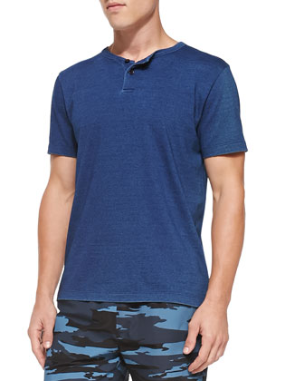 Short-Sleeve Henley Shirt