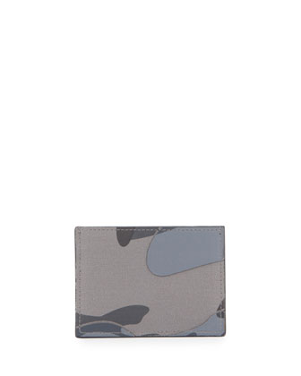 Napa & Camo Card Holder, Stone