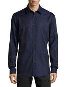 Long-Sleeve Dress Shirt, Blue