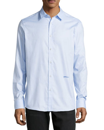 Long-Sleeve Dress Shirt, Light Blue