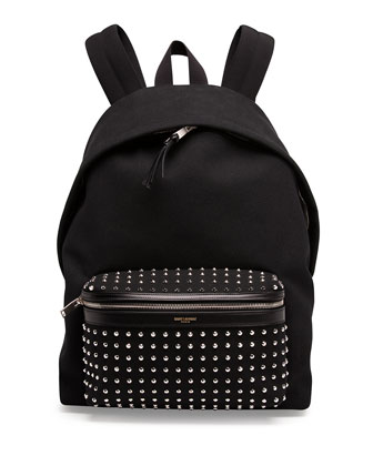 Canvas Studded-Pocket Backpack