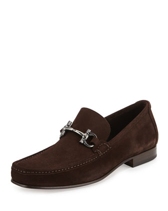Giordano Suede Gancini Loafer