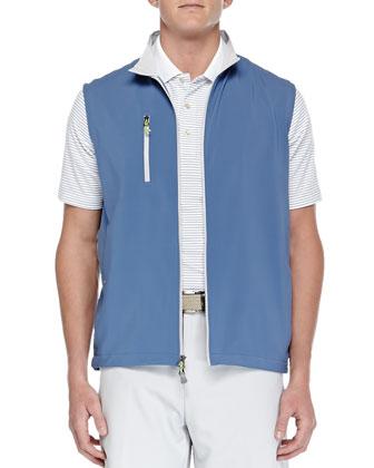 E4 Seville Performance Windblock Vest, Blue