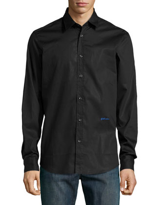 Long-Sleeve Dress Shirt, Black