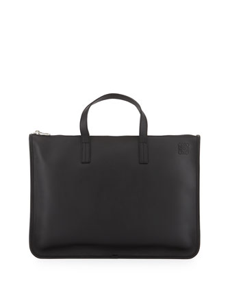 Toledo Leather Briefcase, Black