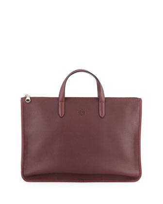 Toledo Leather Briefcase, Oxblood