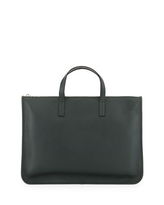Toledo Leather Briefcase, Hunter