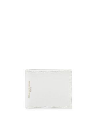 Varnished Leather Bi-Fold Wallet, White