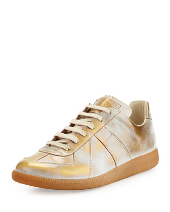 Replica Gold Burnished Low-Top Sneaker