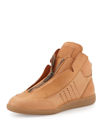 New Future Leather High-Top Sneaker, Tan
