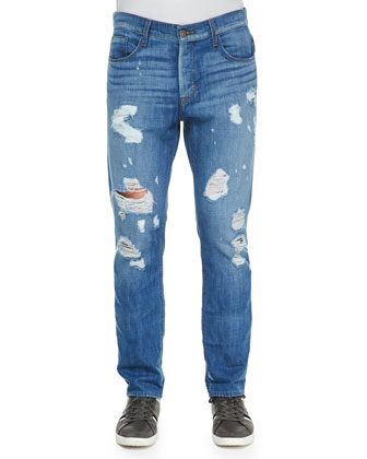 Sartor Ryder Ripped Jeans, Light Blue