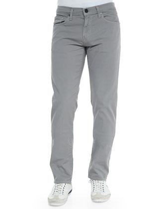 Tyler Stretch-Denim Jeans, Mushroom