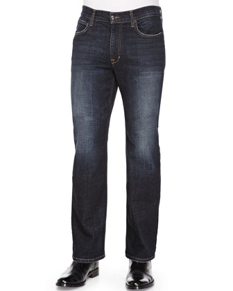 Rebel Moure Relaxed-Leg Jeans, Dark Blue