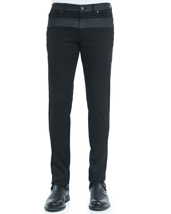 Stretch-Twill Pants with Contrast Panels