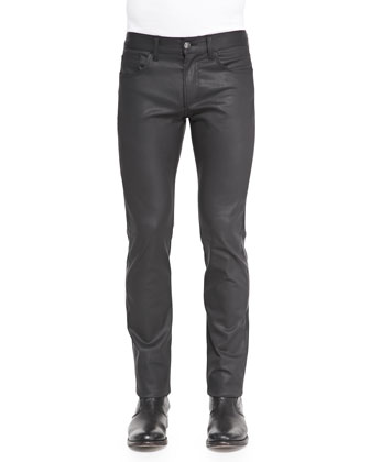 Slim-Fit Coated Denim Jeans
