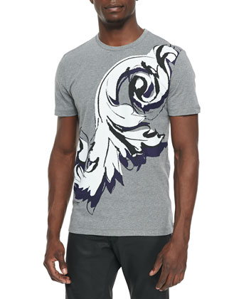 Baroque-Painted Tee, Gray