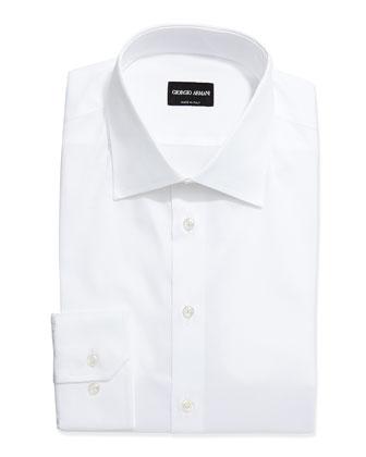 Long-Sleeve Basic Dress Shirt, White