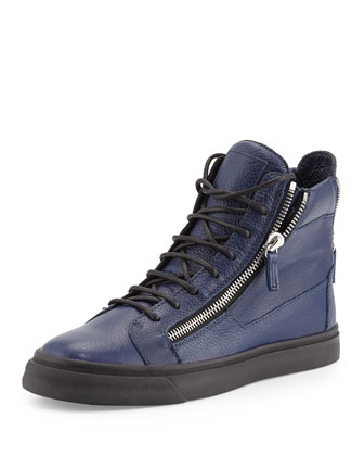 Men's Double-Zip High-Top Sneaker