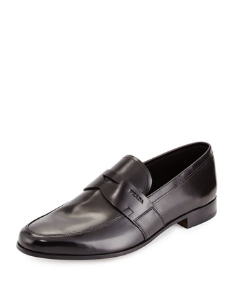 Leather Sole Penny Loafer, Black