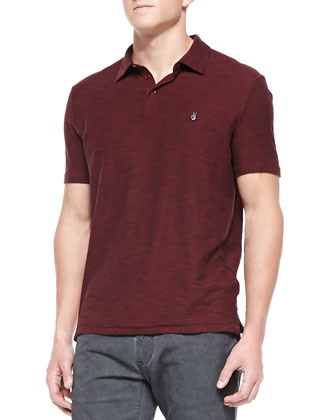 Short-Sleeve Peace Polo, Crimson