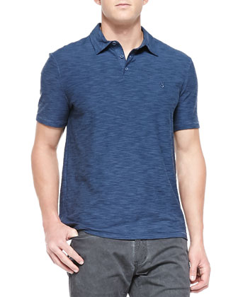 Short-Sleeve Peace Polo, Blue
