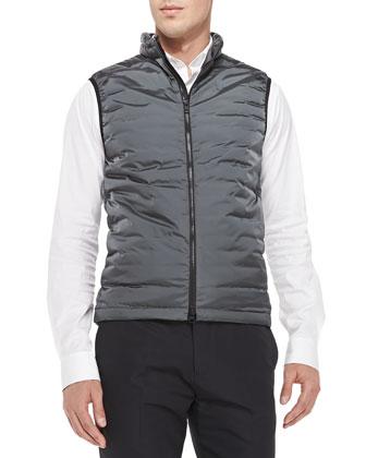 Hames Lightweight Puffer Vest, Gray