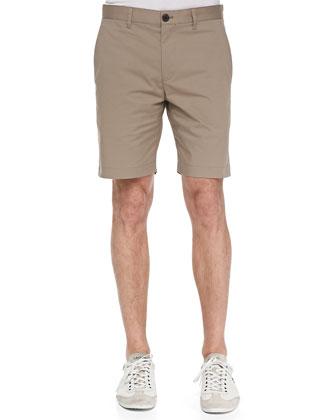 Denen Denim-Terry Shirt & Zaine S Shorts