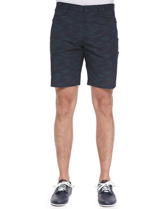 Billy H Long-Sleeve Henley & Kores Camo-Print Shorts