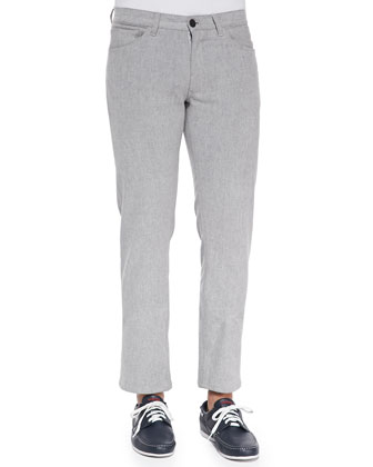 Haydin 5-Pocket Pants, Light Gray