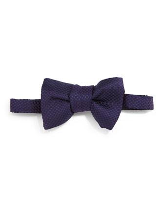 Micro-Check Bow Tie, Purple