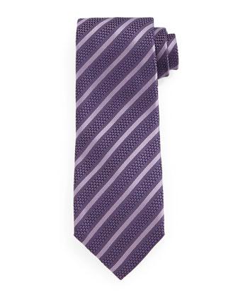 Diagonal-Striped Tie, Purple