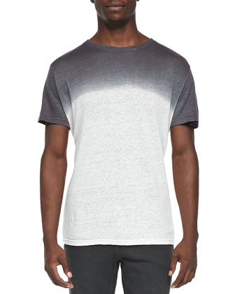 Elie Degrade Tee, Gray/White