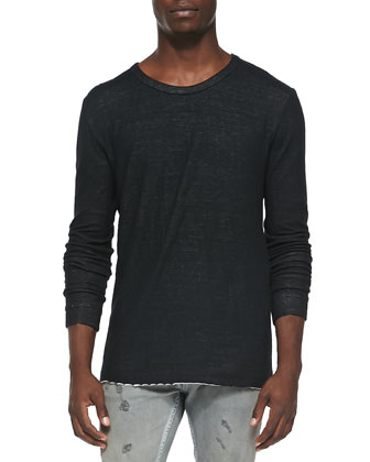 Barue Long-Sleeve Tee & Nygel Slim-Fit Distressed Jeans