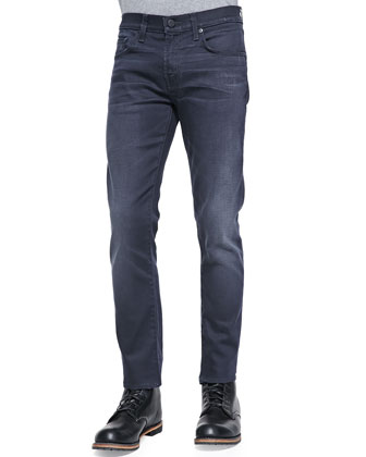 Mick Gould Relaxed Charcoal-Coated Jeans