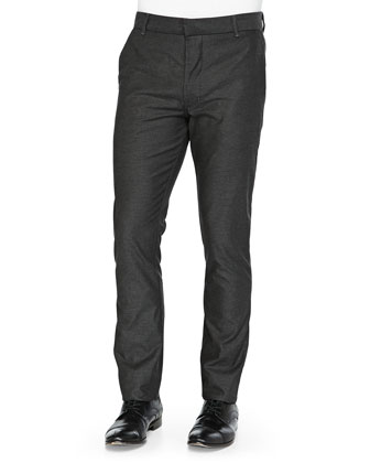 Slim-Fit Chinos, Dark Gray