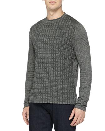 Textured Jersey Shirt, Dark Gray
