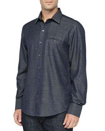 Manley Indigo Shirt, Blue