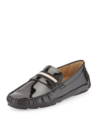 Wabler Patent Leather Driver, Black