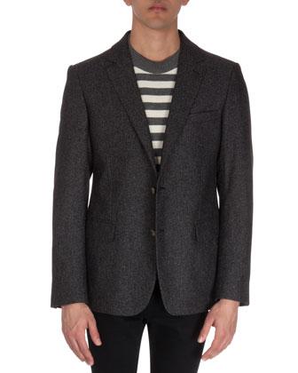Speckled Two-Button Blazer