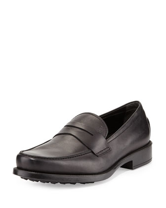Pebbled-Sole Penny Loafer